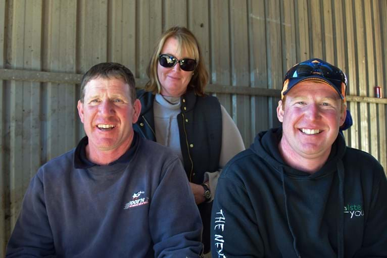 The Williamson Family, recently moved to Tassie, purchasers of Lot 67