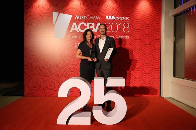Steve and Michelle Williams, 2018 AustCham Westpac Australia-China Business Awards, Shanghai